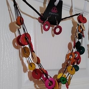 Paparazzi Necklace and Earrings set ~ colorful